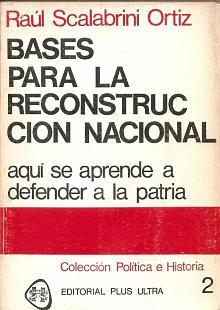 Tapa del libro Bases para la reconstrucción nacional - Raúl Scalabrini Ortiz -