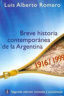 Tapa del libro Breve historia contemporánea de la Argentina - Luis Alberto Romero -