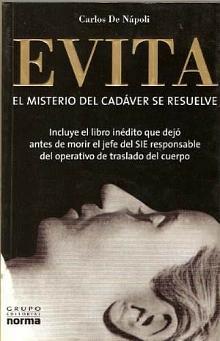 Tapa del libro Evita - Carlos De Nápoli -