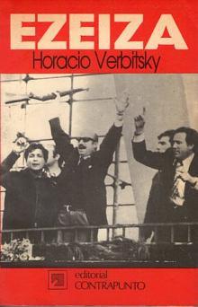 Tapa del libro Ezeiza - Horacio Verbitsky -