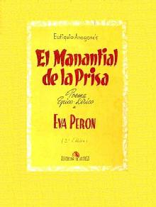Tapa del libro el manantial de la prisa - Eutiquio Aragonés -
