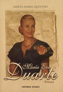 Tapa del libro María Eva Duarte - Marta Mabel Quevedo -