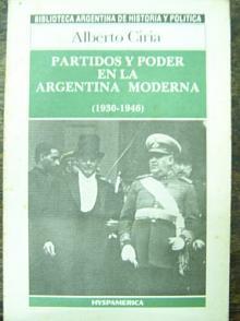 Tapa del libro Partidos y poder en la argentina moderna - Alberto Ciria -
