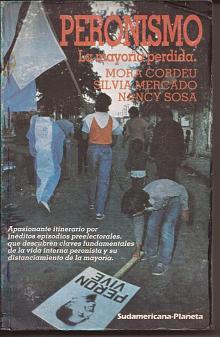Tapa del libro peronismo - Mora Cordeu y otros -