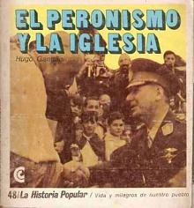 Tapa del libro El peronismo y la iglesia - Hugo Gambini -