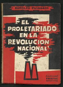Tapa del libro El proletariado en la revolución nacional - Rodolfo Puiggrós -