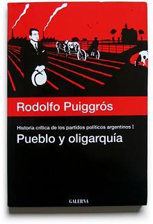 Tapa del libro pueblo y oligarquía - Rodolfo Puiggrós -