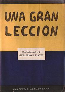 Tapa del libro Una gran lección - Guillermo Plater -