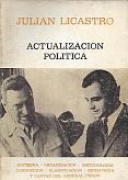 Tapa del libro Actualización política - Julián Licastro -