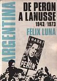Tapa del libro Argentina, de Perón a Lanusse - Félix Luna -