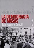 Tapa del libro La democracia de masas - Tulio Halperín Donghi -