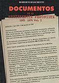 Tapa del libro Documentos de la Resistencia Peronista 1955-1970 - Roberto Baschetti -