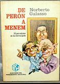 Tapa del libro de perón a menem - Norberto Galasso -