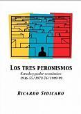 Tapa del libro Los tres peronismos - Ricardo Sidicaro -